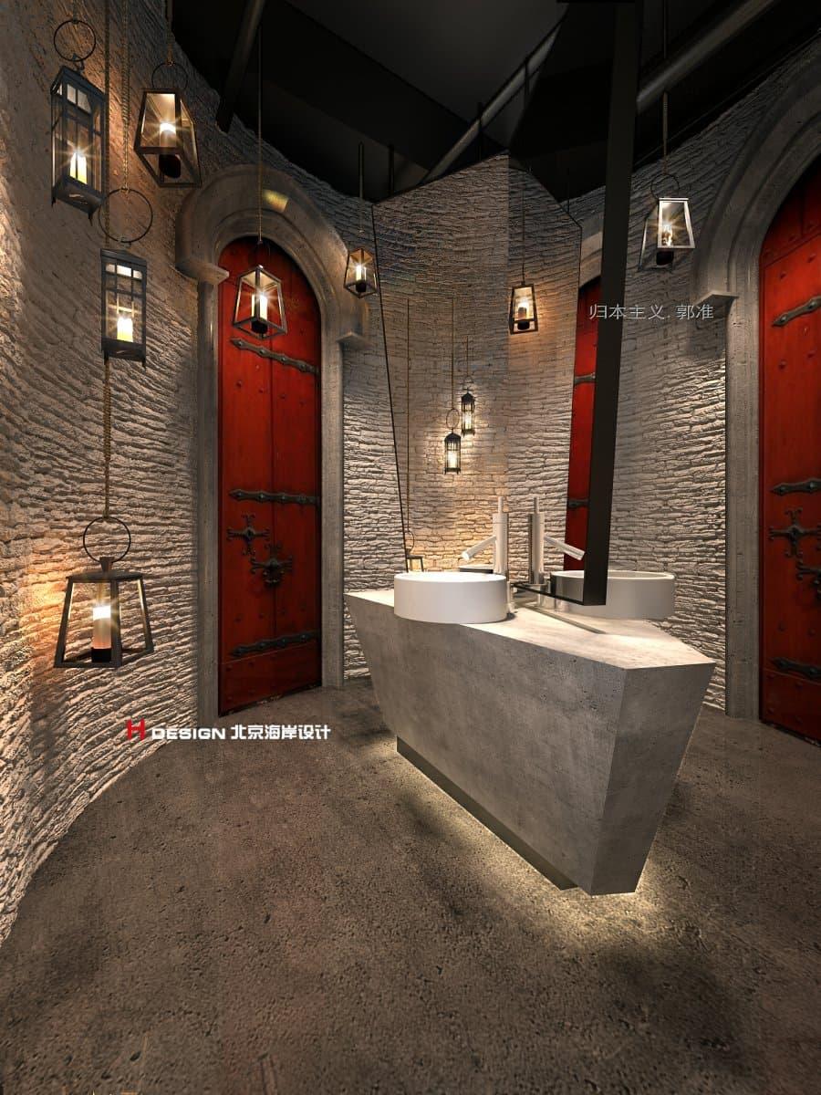 北京海岸设计|归本主义|设计师郭准先生|卫生间设计|洗手间设计|室内设计