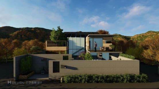 郭准先生在设计中摒弃了传统欧式别墅的张扬和轻飘,极力寻求自然与