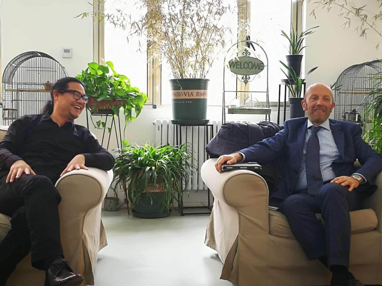 意大利建筑Beplayapp体育公司创始人波捷特Massimo Roj先生来访海岸