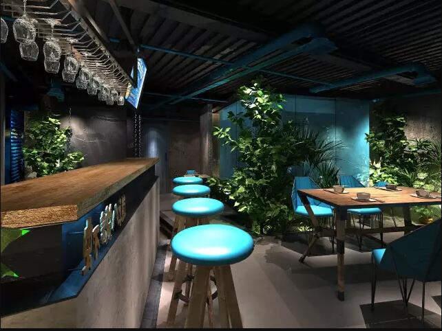 虾说八道餐厅设计效果图